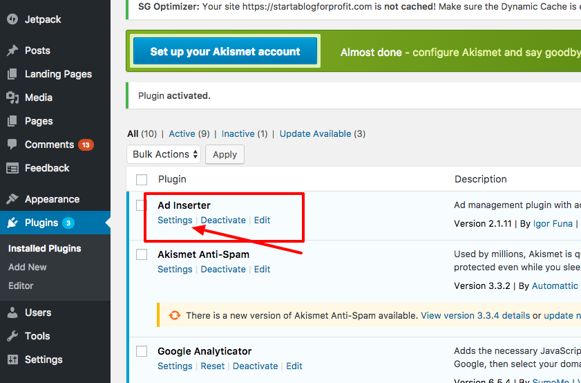 How to Automatically Add Affiliate Disclosure to Every Blog Post - Click settings