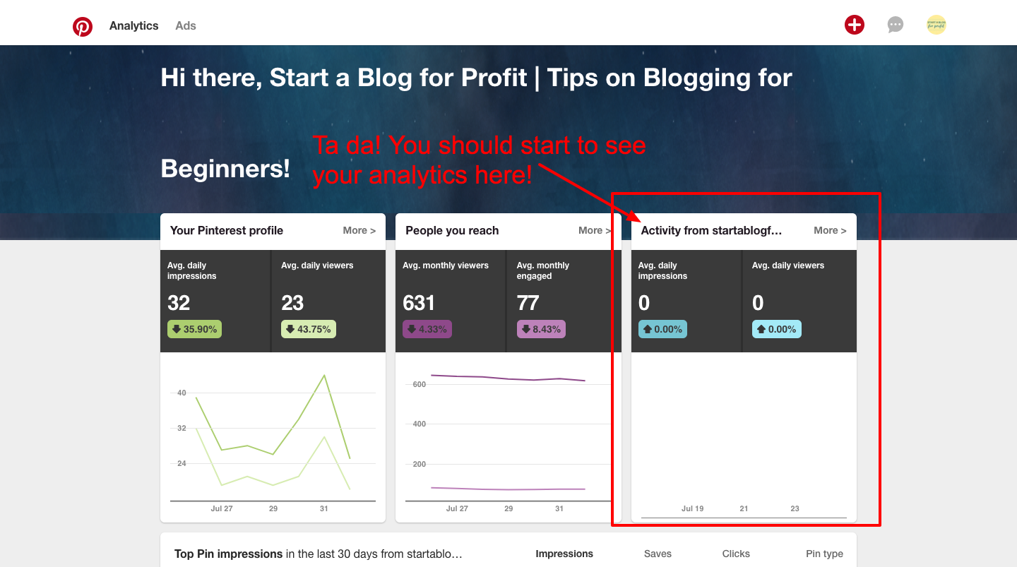 How to Verify a Website on Pinterest - Analytics website pinterest