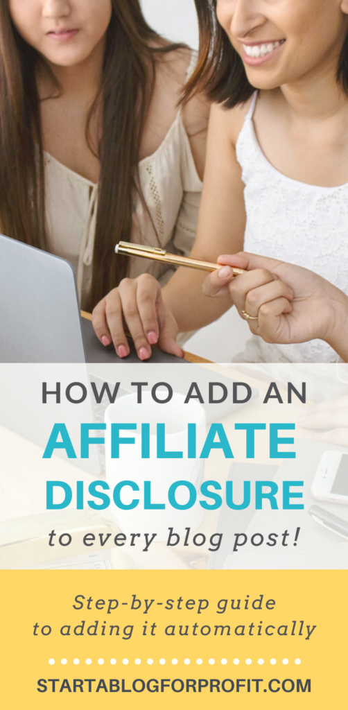 How to add affiliate disclosure to every blog post - featured 2